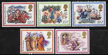 Great Britain 1982 Christmas - Carols set of 5 unmounted mint SG 1202-06