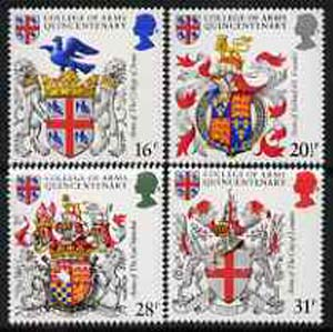 Great Britain 1984 College of Arms 500th Anniversary unmounted mint set of 4 SG 1236-39