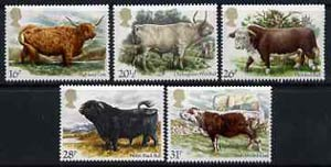 Great Britain 1984 British Cattle unmounted mint set of 5, SG 1240-44 (gutter pairs available price x 2)
