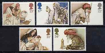 Great Britain 1984 Christmas set of 5 unmounted mint, SG 1267-71 (gutter pairs available price x 2)