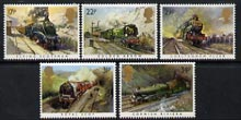 Great Britain 1985 Famous Trains unmounted mint set of 5, SG 1272-76 (gutter pairs available price x 2)