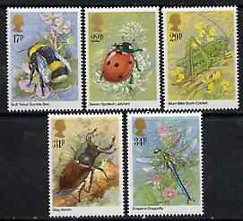 Great Britain 1985 Insects set of 5 unmounted mint, SG 1277-81 (gutter pairs available price x 2)