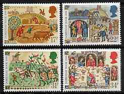 Great Britain 1986 Doomsday Book unmounted mint set of 4 SG 1324-27