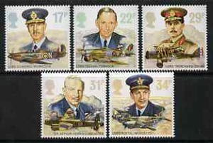 Great Britain 1986 History of the Royal Air Force set of 5 unmounted mint SG 1336-40