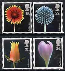 Great Britain 1987 Flower Photographs set of 4 unmounted mint, SG 1347-50