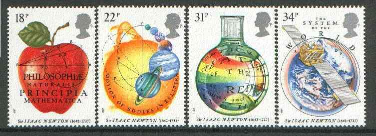 Great Britain 1987 Newton's Principles of Mathematics set of 4 unmounted mint, SG 1351-54