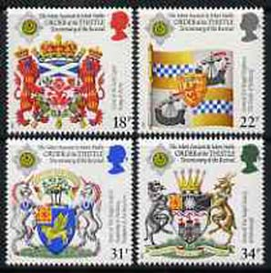 Great Britain 1987 Revival of the Order of the Thistle unmounted mint set of 4, SG 1363-66