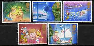Great Britain 1987 Christmas set of 5 unmounted mint, SG 1375-79
