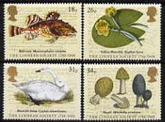 Great Britain 1988 Bicentenary of Linnean Society set of 4 unmounted mint, SG 1380-83