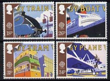 Great Britain 1988 Europa - Transport & Mail Services set of 4 unmounted mint, SG 1392-95