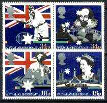 Great Britain 1988 Bicentenary of Australian Settlement set of 4 (2 se-tenant pairs) unmounted mint, SG 1396-99