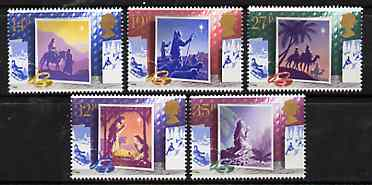 Great Britain 1988 Christmas - Christmas Cards set of 5 unmounted mint, SG 14145-18