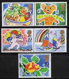 Booklet - Great Britain 1989 Greeting Stamps unmounted mint set of 5 (ex booklet) SG 1423-27