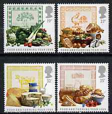 Great Britain 1989 Food & Farming Year set of 4 unmounted mint, SG 1428-31, stamps on food   agriculture   farming