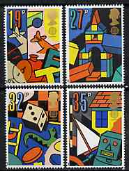 Great Britain 1989 Europa - Games & Toys set of 4 unmounted mint, SG 1436-39