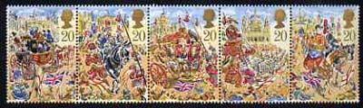 Great Britain 1989 Lord Mayor's Show, London unmounted mint strip of 5, SG 1457a