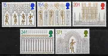 Great Britain 1989 Christmas - Ely Cathedral) set of 5 unmounted mint, SG 1462-66