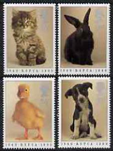 Great Britain 1990 Royal Society for Prevention of Cruelty to Animals 150th Anniversary set of 4 unmounted mint SG 1479-82