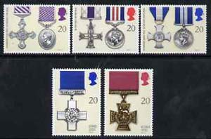 Great Britain 1990 Gallantry Awards set of 5 unmounted mint SG 1517-21