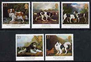 Great Britain 1991 Dog Paintings by George Stubbs set of 5 unmounted mint, SG 1531-35