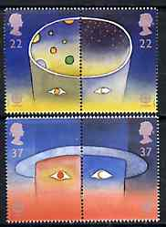 Great Britain 1991 Europa - Space set of 4 (2 se-tenant pairs) unmounted mint SG 1560-63