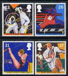 Great Britain 1991 World Student Games & Rugby Cup set of 4 unmounted mint SG 1564-67