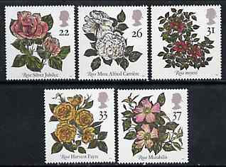 Great Britain 1991 World Congress of Roses set of 5 unmounted mint SG 1568-72