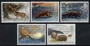Great Britain 1992 The Four Seasons - Wintertime set of 5 unmounted mint SG 1587-91