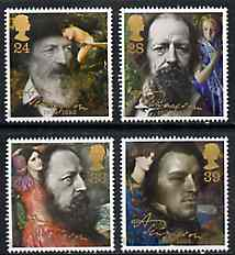 Great Britain 1992 Death Centenary of Alfred Lord Tennyson (Poet) set of 4 unmounted mint, SG 1607-10