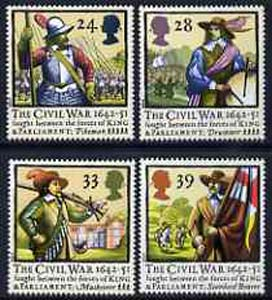 Great Britain 1992 Civil War 350th Anniversary set of 4 unmounted mint, SG 1620-23