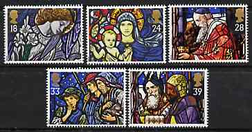 Great Britain 1992 Christmas - Stained Glass Windows set of 5 unmounted mint SG 1634-38