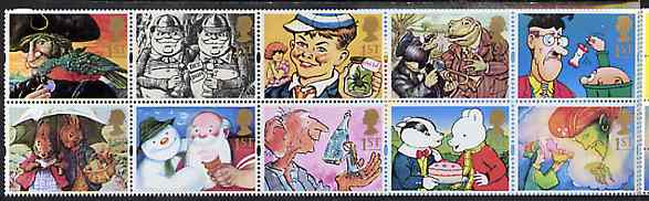 Booklet Pane - Great Britain 1993 Greeting Stamps (Gift Giving) unmounted mint booklet pane of 10, SG 1644a