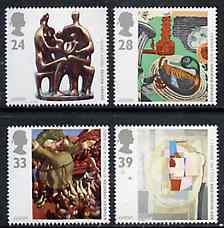 Great Britain 1993 Europa - Contemporary Art set of 4 unmounted mint, SG 1767-70