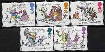 Great Britain 1993 Christmas - A Christmas Carol by Charles Dickens set of 5 unmounted mint SG 1790-94