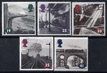 Great Britain 1994 The Age of Steam (Photographs by Colin Gifford) set of 5 unmounted mint, SG 1795-99