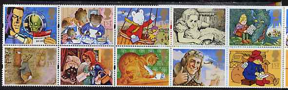 Booklet Pane - Great Britain 1994 Greeting Stamps (Messages) unmounted mint booklet pane of 10, SG 1800a