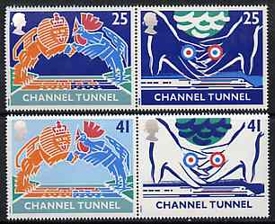 Great Britain 1994 Opening of Channel Tunnel set of 4 (2 se-tenant pairs) unmounted mint SG 1820-23