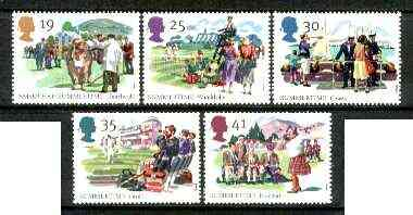 Great Britain 1994 The Four Seasons - Summertime set of 5 unmounted mint SG 1834-38