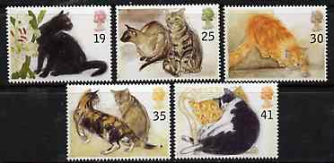 Great Britain 1995 Cats set of 5 unmounted mint SG 1848-52