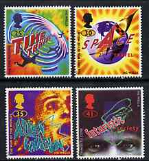 Great Britain 1995 Science Fiction Novels by H G Wells set of 4 unmounted mint SG 1878-81, stamps on literature     sci-fi