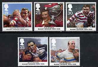 Great Britain 1995 Centenary of Rugby League set of 5 unmounted mint SG 1891-95