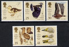 Great Britain 1996 Anniversary of Wildfowl & Wetlands Trust unmounted mint set of 5 SG 1915-19