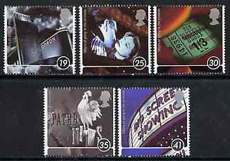 Great Britain 1996 Centenary of the Cinema unmounted mint set of 5 SG 1920-24