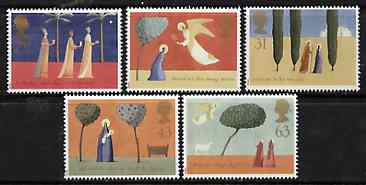 Great Britain 1996 Christmas unmounted mint set of 5 SG 1550-54