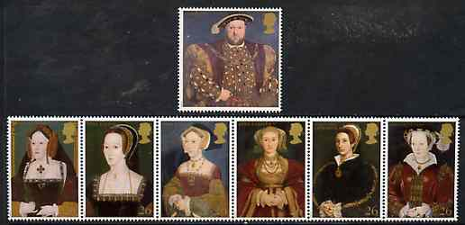Great Britain 1997 King Henry VIII 450th Death Anniversary set of 7 unmounted mint SG 1965-71