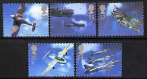 Great Britain 1997 Architects of the Air (Aircraft & Designers) set of 5 unmounted mint SG 1984-88