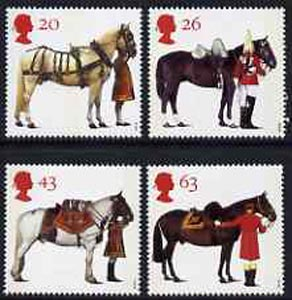 Great Britain 1997 All The Queen's Horses set of 4 unmounted mint SG 1989-92
