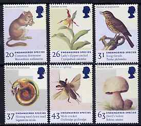 Great Britain 1998 Endangered Species unmounted mint set of 6, SG 2015-20*