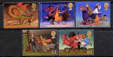 Great Britain 1998 Famous Children's Fantasy Novels set of 5 unmounted mint, SG 2050-54*