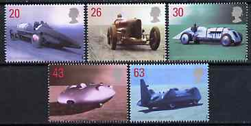 Great Britain 1998 British Land Speed Record Holders set of 5 unmounted mint, SG 2059-63*
